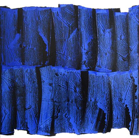 Bleu sur noir